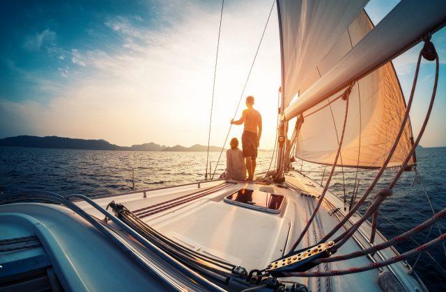 sailing the sea new boat