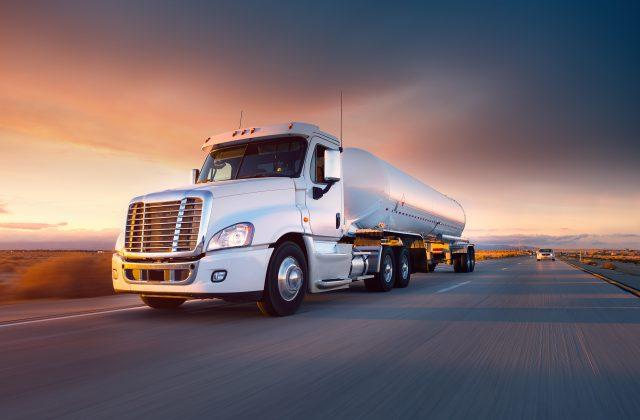 truck hauling liquids across state