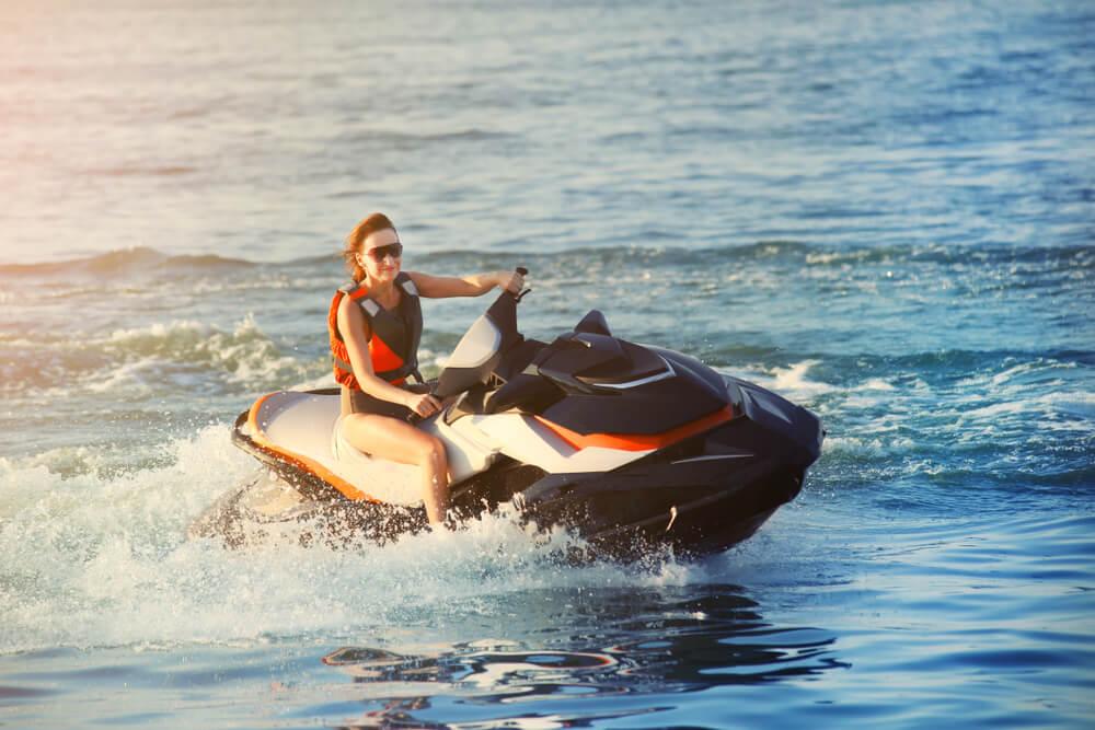family fun on a new jet ski