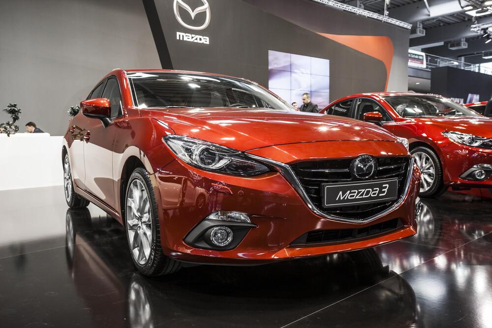Mazda 3 in red